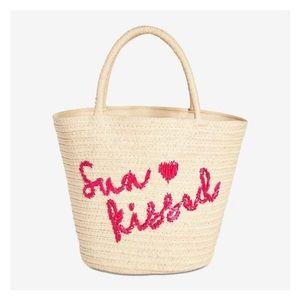 ⚡️'SUN KISSED' natural beach straw tote summer bag